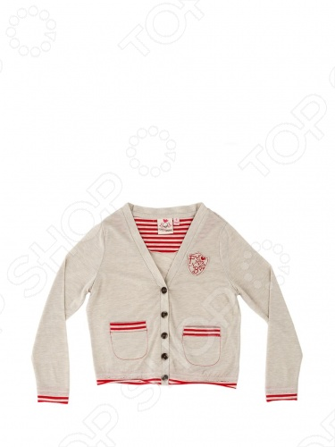 купить Кардиган детский Fore N Birdie Jersey cardigan with embroidery онлайн доставка