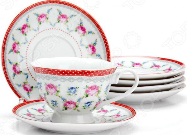 Купить сервиз чайный август вернисаж 14 пр 6 перс по цене 788 руб в интернет-магазине posudaru